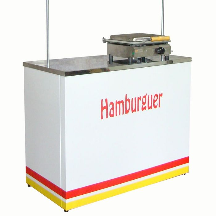 Barraca de Hamburguer e Lanches com Sanduicheira de Prensa