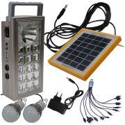 Carregador Solar Multifun��o com Lanterna Carregadora WMTLL81566