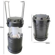 Lampi�o Lanterna p/ Camping a Pilhas 4 LEDS PRATA CBRN01248