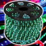 Mangueira Luminosa L�MPADA Verde Corda Natal Pisca Rolo 100mt - 110v - 1053