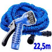 Mangueira M�gica Expans�vel 22,5 metros 7 Tipos Jatos TS-22 - Azul