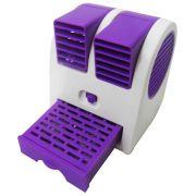Mini Ventilador Climatizador Port�til Aromatizante 13,5cm � Pilhas ou USB Roxo CBRN1088