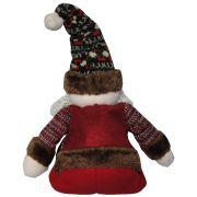 Papai Noel de Luxo em Pel�cia com 45cm de Altura CBRN0401 CD0077