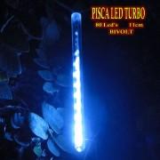 Pisca Led Turbo Bi-volt 80 Leds 11cm 8 tubos 2,40m piscal natal