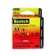 Fita Isolante 3M Scotch 33+ PVC 19mm x 10m