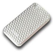 Capa de IPhone 4/4S de Policarbonato Texturizado Em Linhas Colorida BB-DIAMOND-SV Acompanha Pel�cula Protetora Aplicador de Pel�cula Flanela para Limpeza