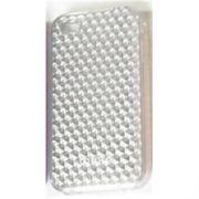 Capa de IPhone 4/4S de Policarbonato Texturizado Em Linhas Coloridas BB-GRID-GY Acompanha Pel�cula Protetora Aplicador de Pel�cula Flanela para Limpeza