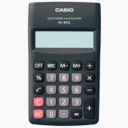 Calculadora de Bolso Casio HL-815L-BK-S4-DP Preta Big Display, 8 D�gitos, 4 Opera��es