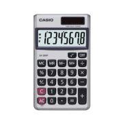 Calculadora de bolso Casio SX-300P-W-DP 8 d�gitos, soltar e bateria, Prata
