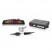 Sensor de Estacionamento Multilaser AU009 Prata 4 pontos com Conector e Display LED