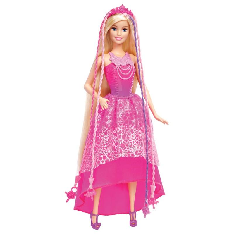 Boneca Barbie Reino dos Penteados M�gicos com Tran�ador - Mattel