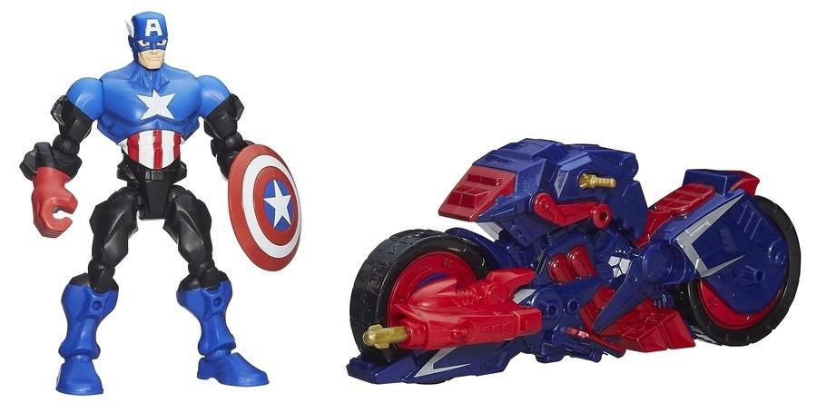 Boneco Super Hero Marshers Capit�o Am�rica - Hasbro