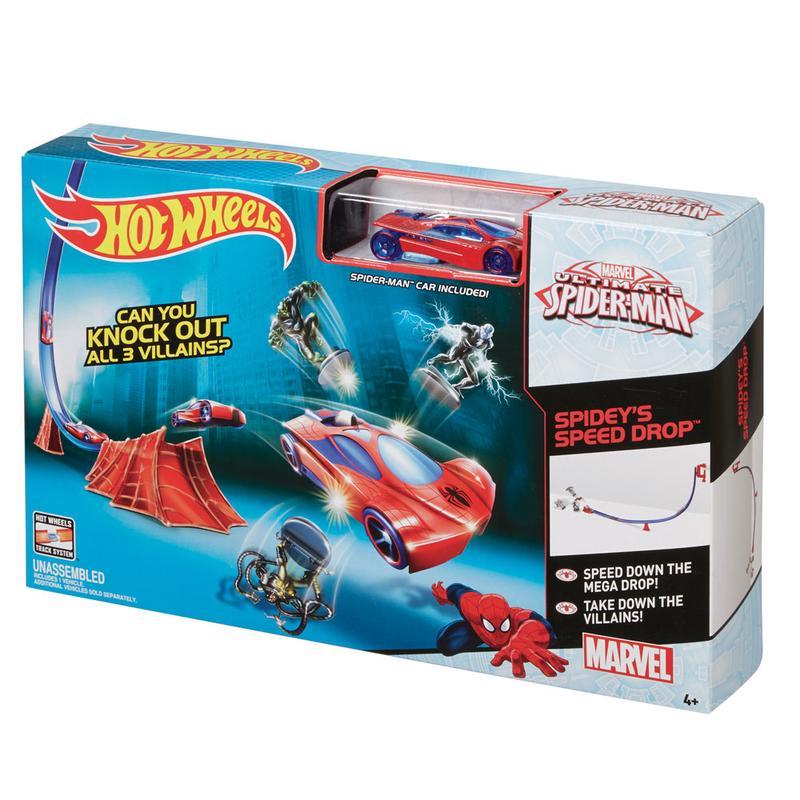 Pista Hot Wheels Ultimate Spider Man Speed Drop - Mattel