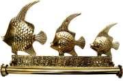 Porta Papel Toalhas Peixes - Bronze Maci�o