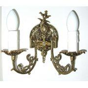 Arandela Casti�al El�trico Em Bronze Para 2 L�mpadas