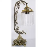 Abajur Lumin�ria Colonial em Bronze Com Cristais