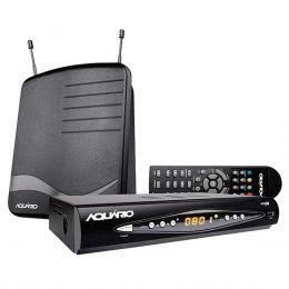 DTV 8100 - Kit Conversor Digital Full HD + Antena Interna DTV8100 Aqu�rio