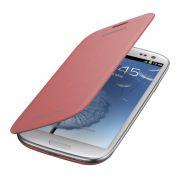 Capa flip em couro para Samsung Galaxy S3 S III GT-I9300 - EFC-1G6FPEC - Cor  Rosa