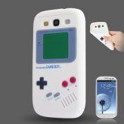 Capa design Retro Gameboy para Samsung Galaxy S3 S III i9300 - Branco