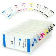 Cartuchos Recarreg�veis para Plotter HP Z2100, Z3100, Z3200, Z5200, C9448a e HP70