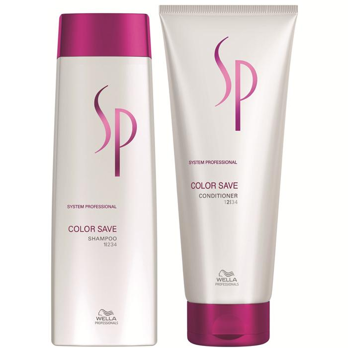 Kit Shampoo Wella SP Color Save 250ml + Conditioner Condicionador Color Save 200ml