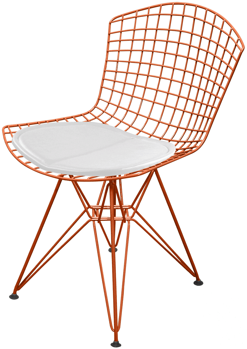 Cadeira Bertoia DKR Acobreada com Assento