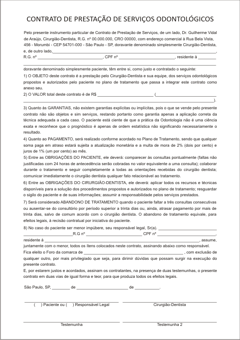 Contrato de Presta��o de Servi�o - Ref. 3281
