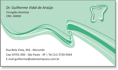 Cart�o de Visita Classic - Ref. 0889