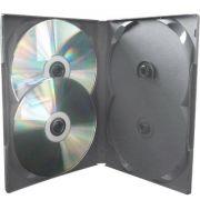 Box Quadruplo Amaray Padr�o DVD Preto 100 unid