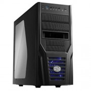 Gabinete ATX 4 Baias Cooler Master RC-431P-KWN2 Elite 431 PLUS USB 3.0 X-DOCK HOT SWAP Lateral Acril