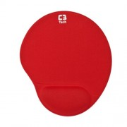 PAD Mouse com Apoio GEL C3 TECH MP-L009RD Vermelho