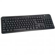 Teclado Multimidia PS/2 Clone Preto 09312