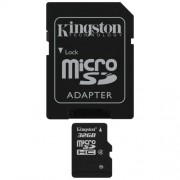 Cart�o de Mem�ria 32GB Micro SD com Adaptador SD / Classe 4 Kingston SDC4/32GB