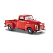 Carrinho Maisto Pickup Chevrolet 1950 Escala 1:25 Vermelho 1900066