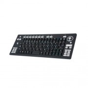 Teclado sem Fio Clone Media Center com Trackball 09219 Preto