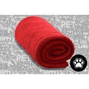 Cobertor Manta Pet Shop Microfibra Vermelho