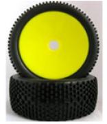 Roda com pneu offroad Buggy 1/8 Amarelo (Par)