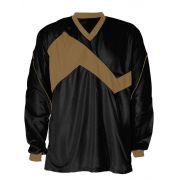 Camisa de Goleiro modelo Omega n�mero 1 Preto/Dourado
