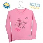 Camiseta Mundo Bita Rosa Longa � UV.action