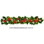 1222 - Adesivo Ramo Floral de Natal
