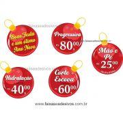 1225 - Adesivos Bolas de Natal promocional