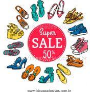 A484 - Adesivo Sapatos Sale - Escolha o tamanho