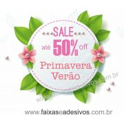A4917 - Adesivo Primavera-Ver�o - Floral Celeste