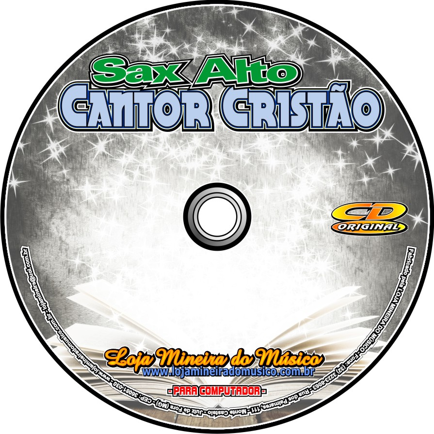 SAX ALTO Partituras do Cantor Crist�o com Playbacks Cantor Crist�o
