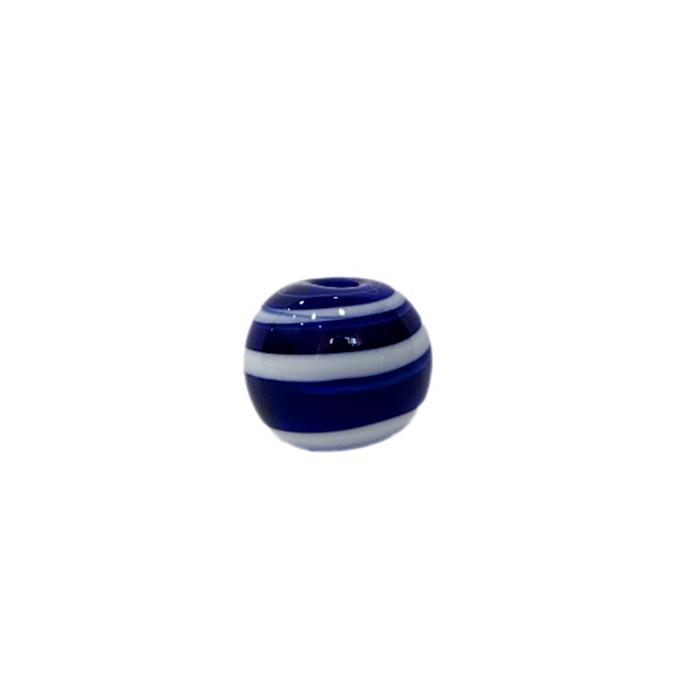 Bola de murano P azul�o/ branco (10 unidades)- MU113