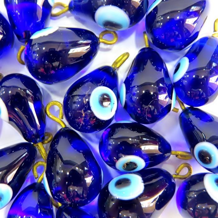 Olho grego pingente gota azul�o- OGP032