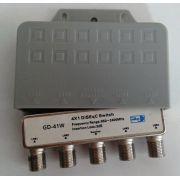 Chave Diseqc Gecen 4X1 GD-41W Com Capa