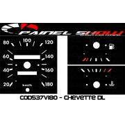Kit Transl�cido p/ Painel - Cod537v180 - Chevette DL SLE