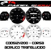 Kit Transl�cido p/ Painel - Cod512v200 - Corsa com Contagiros