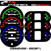 Kit Translucido p/ Painel - Cod520v200 - Escort Hobby L